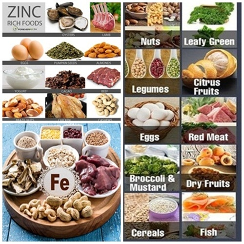 iron and zinc foods